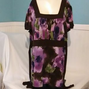 Maurices Purple Flowered Blouse. Size 2x
